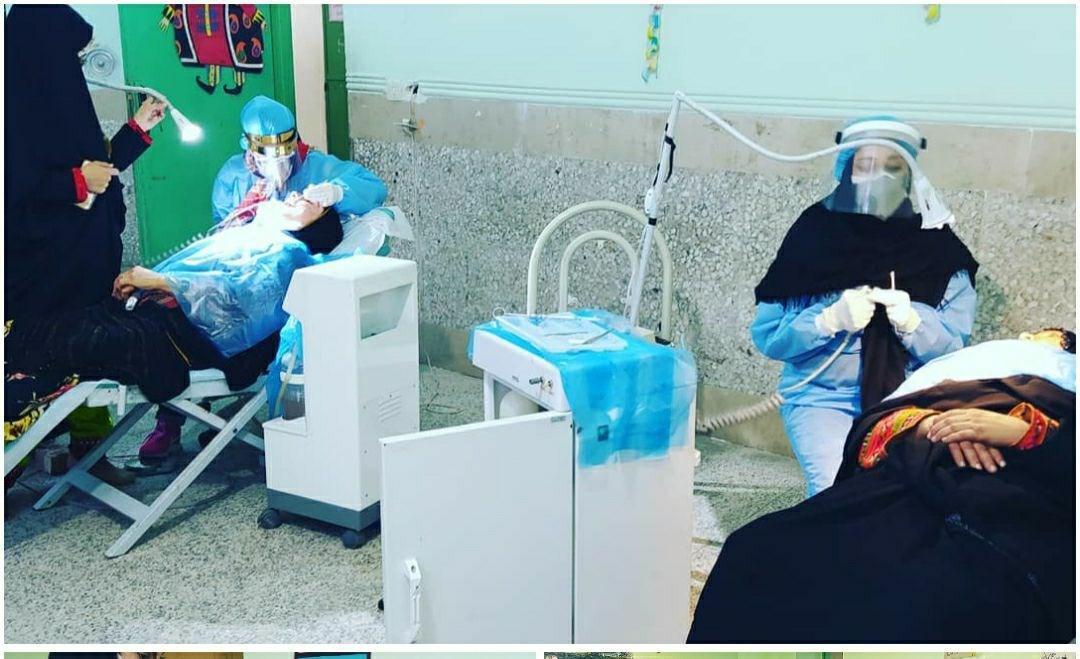 ارائه خدمات پزشکی و توزیع 5000 پرس غذای نذری در مناطق محروم سیستان و بلوچستان