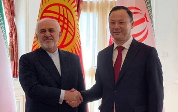 ظریف با وزیر خارجه قرقیزستان ملاقات کرد خبرنگاران