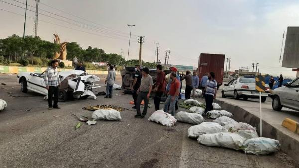 تصادف زنجیره ای جاده قدیم تهران-قم 14 فوتی و مجروح برجا گذاشت