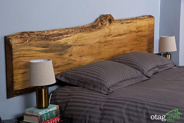 25 مدل تاج بالای تخت خواب بسیار زیبا ساخته شده با چوب جنگلی